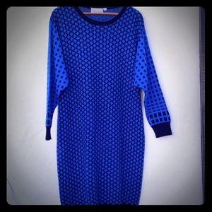 Vintage Diane Von Furstenberg Sweater Midi Dress